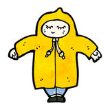Cartoon person in raincoat Stock Photos
