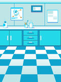 Cartoon pet doctor office game background Royalty Free Stock Photo