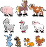 Cartoon pets, living on a farm,vector Stock Photos