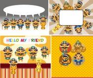 Cartoon pharaoh card Royalty Free Stock Photos