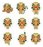 Cartoon pharaoh icon Royalty Free Stock Image