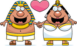 Cartoon Pharaoh and Queen Love Royalty Free Stock Images