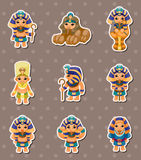 Cartoon pharaoh stickers Royalty Free Stock Images