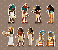 Cartoon pharaoh stickers Stock Photo