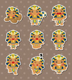 Cartoon pharaoh stickers Royalty Free Stock Photo