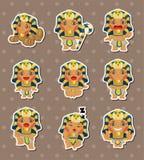 Cartoon pharaoh stickers Royalty Free Stock Photo