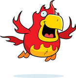 Cartoon Phoenix Flying Stock Photo