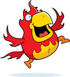 Cartoon Phoenix Jumping Royalty Free Stock Photo