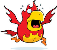 Cartoon Phoenix Panic Royalty Free Stock Photo