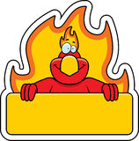 Cartoon Phoenix Sign. A cartoon illustration of a phoenix holding a sign Royalty Free Stock Photography
