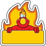 Cartoon Phoenix Sign Royalty Free Stock Photography