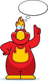 Cartoon Phoenix Thinking. A cartoon illustration of a phoenix thinking Stock Image