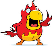 Cartoon Phoenix Waving Royalty Free Stock Photos
