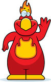 Cartoon Phoenix Waving. A cartoon illustration of a phoenix waving Royalty Free Stock Image
