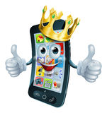 Cartoon phone man king Stock Images