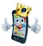 Cartoon phone man king Stock Images