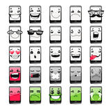 Cartoon Phones Emoticons Royalty Free Stock Photos
