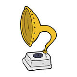 cartoon phonograph Stock Photos