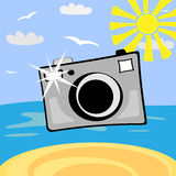 Cartoon photo camera. Illustration Royalty Free Stock Photography