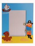 Cartoon photo frame. On white stock images