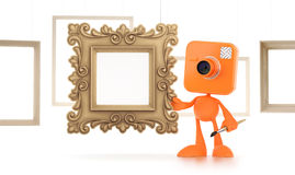 Cartoon Photographer Stock Image