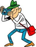 Cartoon photographer Stock Photography