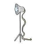 Cartoon photography studio lamp Stock Photo