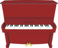 Cartoon piano. Illustration vector isolated of cartoon piano – old, classical, modern Stock Images