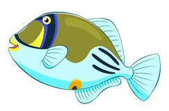 Cartoon picasso triggerfish Royalty Free Stock Photography