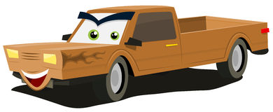 Cartoon Pick-up Character stock illustration