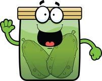 Cartoon Pickle Jar Happy Royalty Free Stock Image