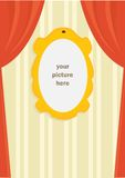 Cartoon picture frame. Illustration Royalty Free Stock Photos