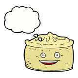 Cartoon pie with thought bubble Royalty Free Stock Image