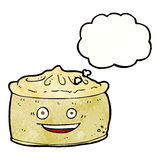 Cartoon pie with thought bubble Stock Photography