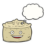 Cartoon pie with thought bubble Stock Image