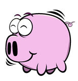 Cartoon pig. Illustration of cartoon pig on the white background,vector illustration Royalty Free Stock Photography