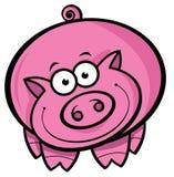 Cartoon Pig. Cartoon illustration of a cute happy pig Stock Photo