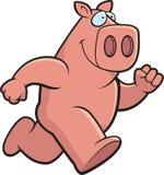 Cartoon Pig. A pink cartoon pig running Royalty Free Stock Photo