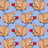 Cartoon pig background Royalty Free Stock Photo