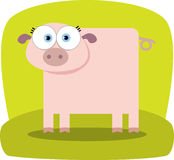 Cartoon Pig with big eye Stock Photos