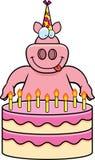 Cartoon Pig Birthday Royalty Free Stock Photography