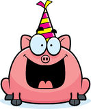 Cartoon Pig Birthday Party Stock Photo