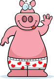 Cartoon Pig Boxers Royalty Free Stock Photo