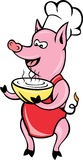 Cartoon Pig Chef Cook Baker Royalty Free Stock Photo