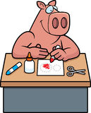 Cartoon Pig Crafts Royalty Free Stock Images