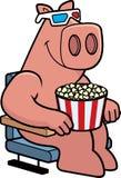 Cartoon Pig 3D Movies Royalty Free Stock Image