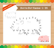 Cartoon Pig. Dot to dot educational game for kids Royalty Free Stock Photography
