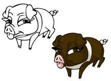 Cartoon pig girl Royalty Free Stock Images