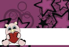 Cartoon pig heart background Stock Images