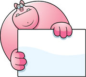 Cartoon Pig Hiding Stock Images
